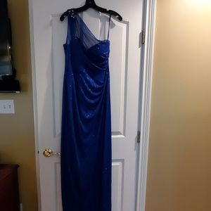 Onyx royal blue evening gown
